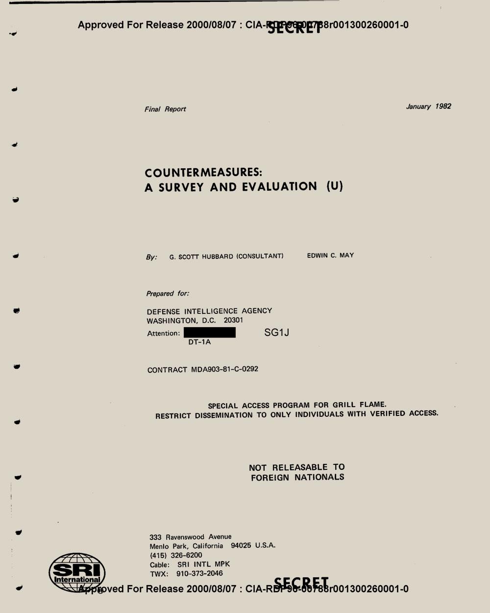 SRI   CIA document