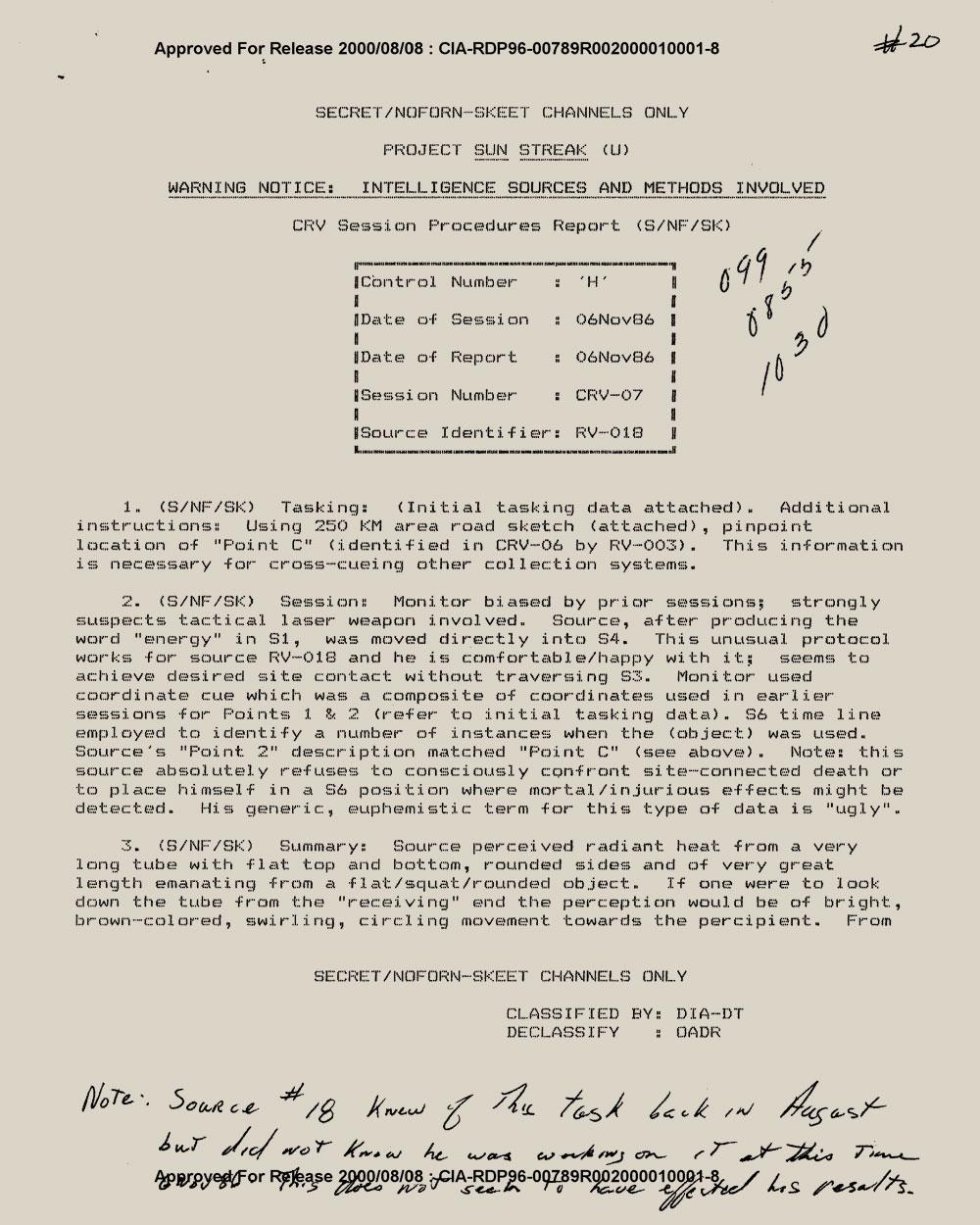 Sun Streak   CIA document