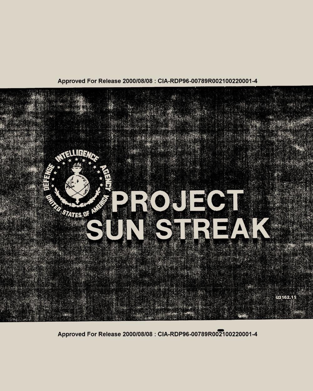 Project Sun Streak   CIA document